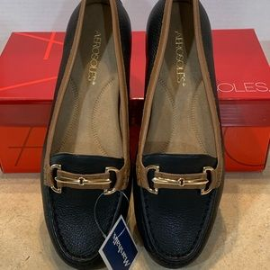 Aerosols Leather Loafers. Women's, brand new!